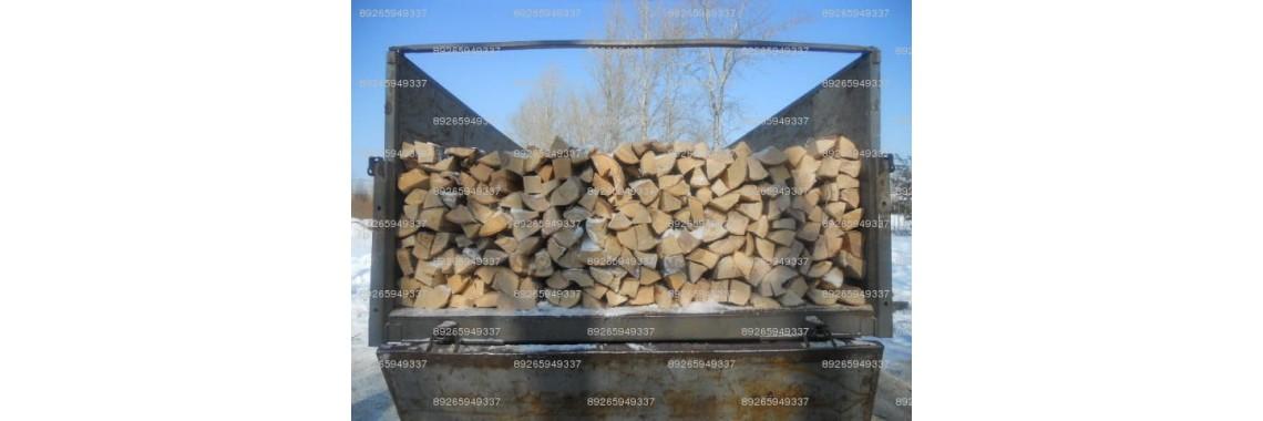 уложенные дрова березовые